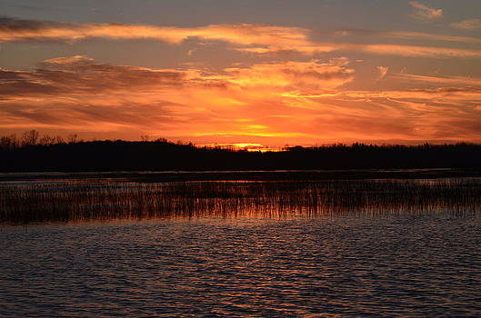 Sunset Over Tiny Marsh II by David Porteus