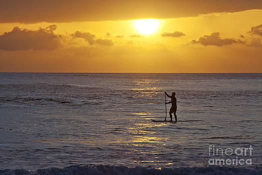 Sunset Paddle Maui by David Olsen