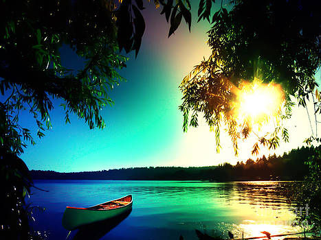 Sunset Rainbow at Kenmore Washington by Eddie Eastwood