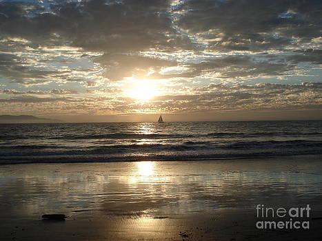 Sunset Sail by Crystal Joy Photography