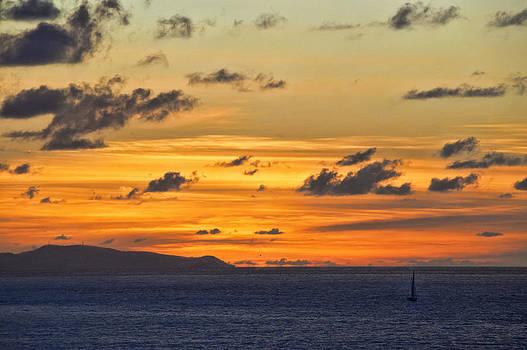 Sunset Sailing by Kathy Jennings