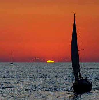 Frozen in Time Fine Art Photography - Sunset Sailing