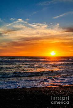 Sunset San Simeon California by Lisa Anne McKee