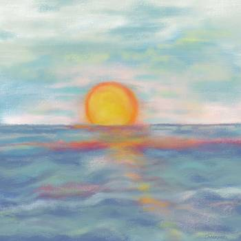 Sunset Sea by Christine Fournier
