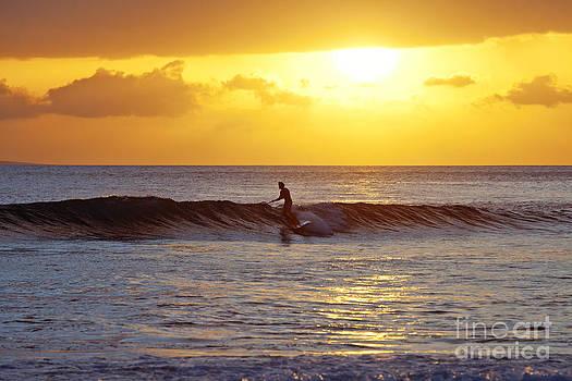 Sunset Surf Maui by David Olsen