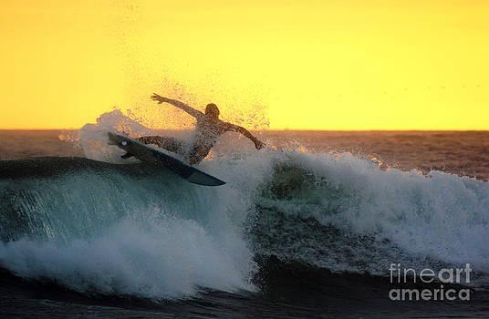 Sunset Surfer  by Stav Stavit Zagron