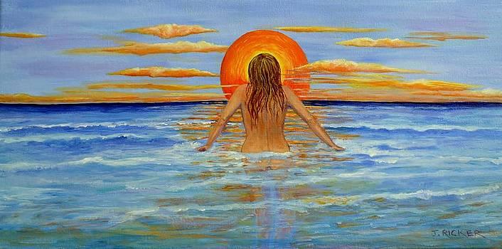Sunset Swim by Jane Ricker
