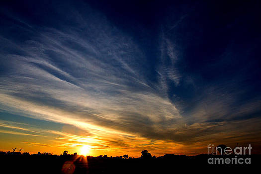 Sunset Under Blue Skies by Deanna Wright