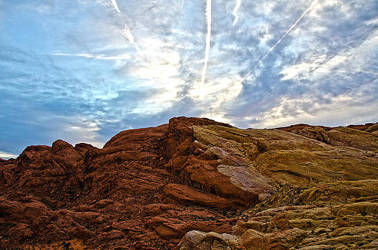 Sunset Valley of Fire by Michael Misciagno