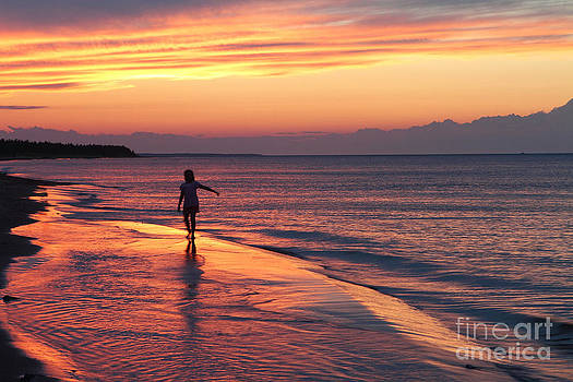 Sunset Walk by Guy St-Vincent