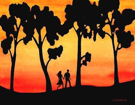 Sunset Walk by SophiaArt Gallery