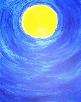 SunShine in Blue Sky by Leena Samat Kuchadiya