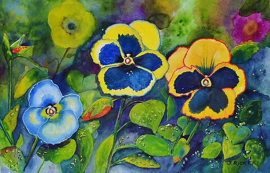 Sunshine Pansies by Jane Ricker