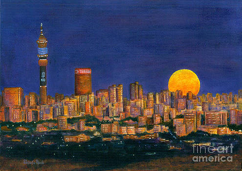 Supermoon over Johannesburg by Ursula Reeb