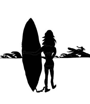 Kate Farrant - Surfer Girl silhouette