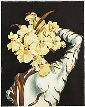 Surrealist Flower by Salvador Dali