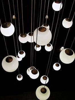 Suspended - balls of light art print by Jane Eleanor Nicholas