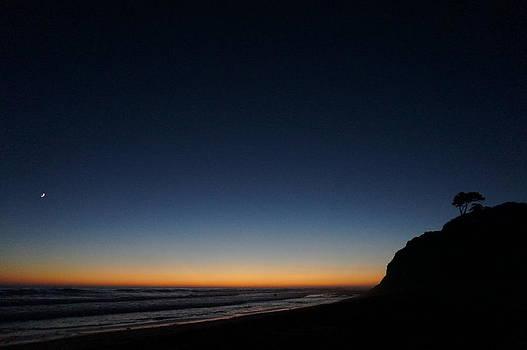 Swami's Beach by Night by Julia Ivanovna Willhite