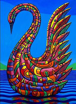Swan abstract by Chris Boone