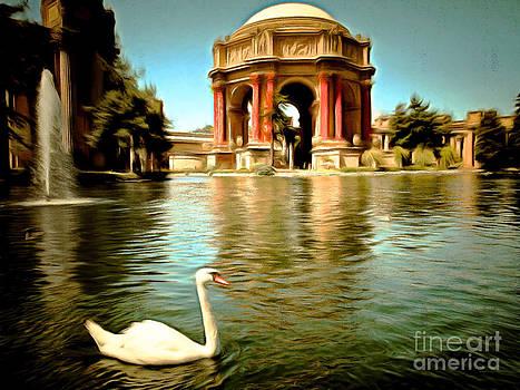 Wingsdomain Art and Photography - Swan at The San Francisco Palace of Fine Arts 5D18069