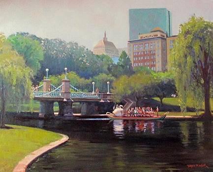 Swan Glide by Dianne Panarelli Miller