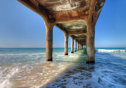 Swept Away. Manhattan Beach Pier, California.  by Joe Schofield