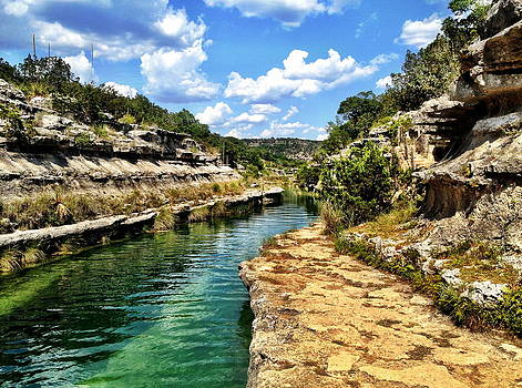 Swimming in the Frio by Anna Bree