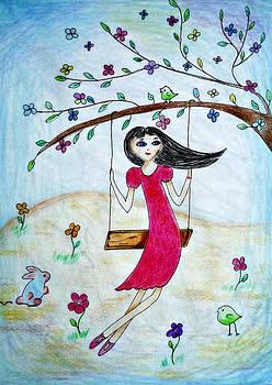 Swinging in a tree by Jo Ann