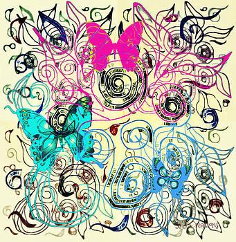 Swirls and Bright Butterflies by Jan Steadman-Jackson