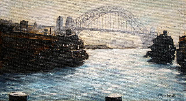 Sydney Ferry Wharves 1950's by Lyndsey Hatchwell