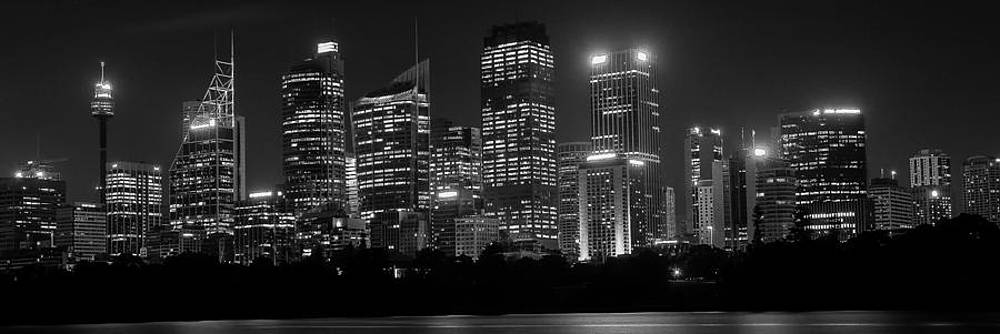 Sydney Skyline in BW by Cliff C Morris Jr