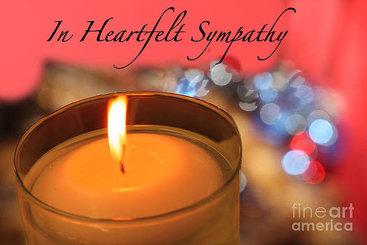 Sympathy Card - Golden Candle #1 by Erin Masterson