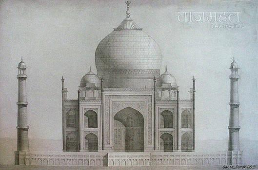 Taj Mahal by Maria Degtyareva