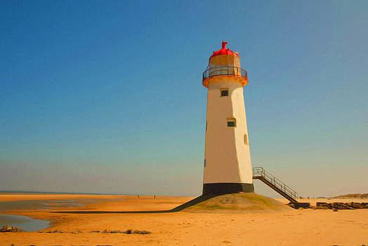 Talacre lighthouse by Christopher Rowlands