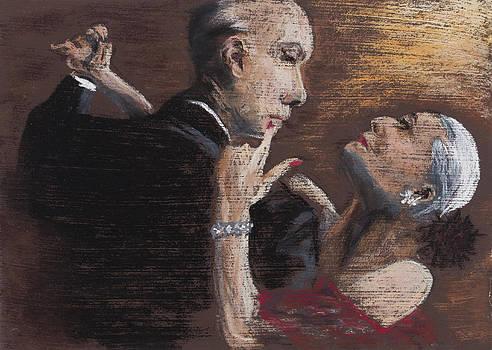 Tango Triptych El Abrazo by Jocelyn Paine
