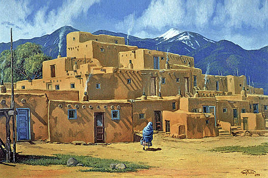 Taos Pueblo by Randy Follis