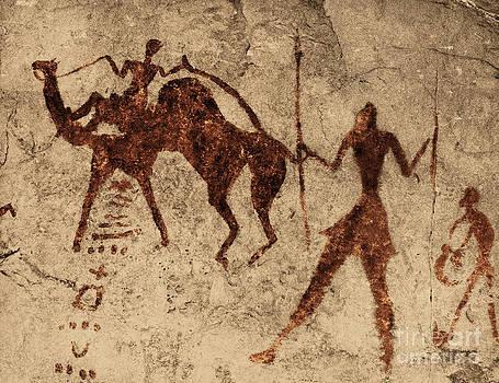 George Holton - Tassili Najjer Rock Painting Algeria