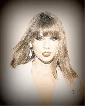 Taylor Swift Sketch by Anibal Diaz