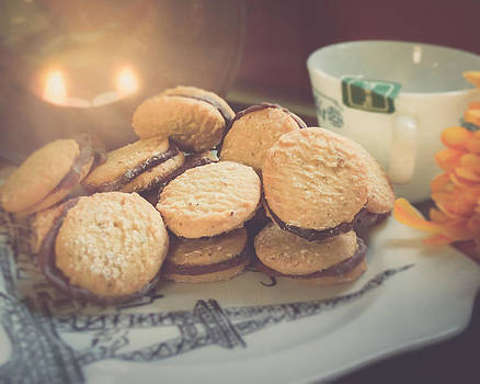 Tea and Macarons by Janelle Yeager
