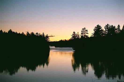 Tea Lake Sunset by David Porteus