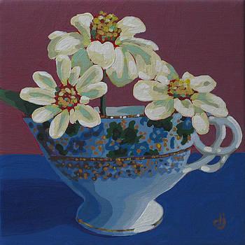 Teacup Zinnias by Dorothy Jenson