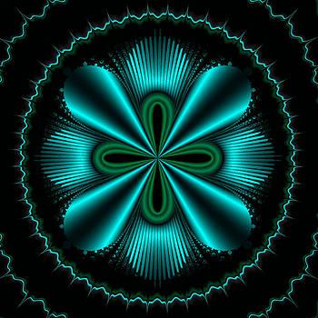 Teal Wheel Mandelbrot by Faye Giblin