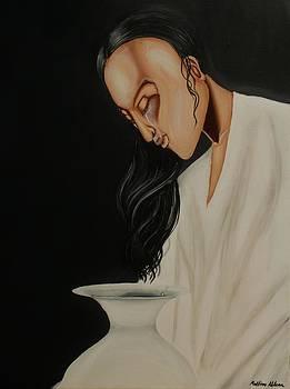 Tears in a Vase- figurative biblical art with emotion by Millian Glenn