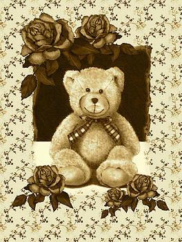 Joyce Geleynse - Teddy Bear On Vintage Background Roses