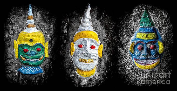 Adrian Evans - Temple Faces