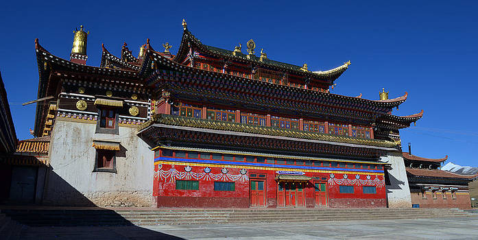 Temple in Tibet by Yue Wang