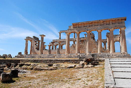 Temple of Aphaia by Virginia Cortland