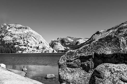 Tenaya Lake Black and White by Kay Price