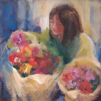 Tending Flowers by Pamela Rubinstein