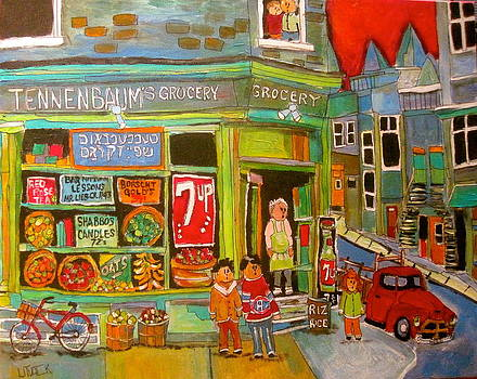 Tennebaum's Grocery1950's by Michael Litvack